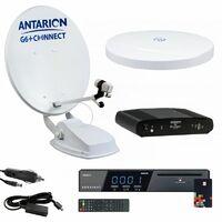 Pack Parabole Satellite Automatique 65cm + Antenne TNT + Récepteur TNTSAT HD Astra - Blanc