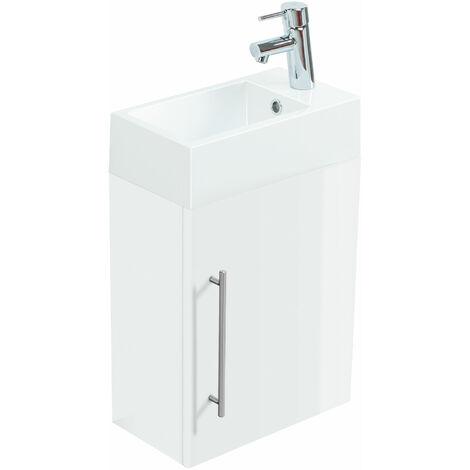 Meuble lave-mains Aris blanc brillant