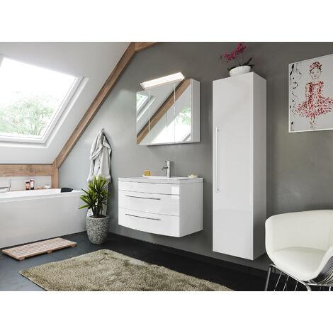 Ensemble de meuble de SDB de la série BELLA 80 en blanc brillant