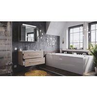 Ensemble de SDB Firenze 90 2 Pièces en décor chêne avec armoire de toilette