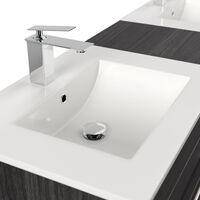 Meuble salle de bain double vasque Roma XL Charbon antique