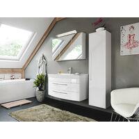 Ensemble de meuble de SDB de la série BELLA 100 en blanc brillant