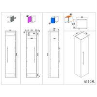 Ensemble meuble de SDB Roma XL 4 pièce incl. miroir LED en anthracite satiné