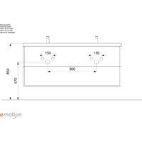 Ensemble meuble de SDB Roma XL 4 pièce incl. miroir LED en décor chêne