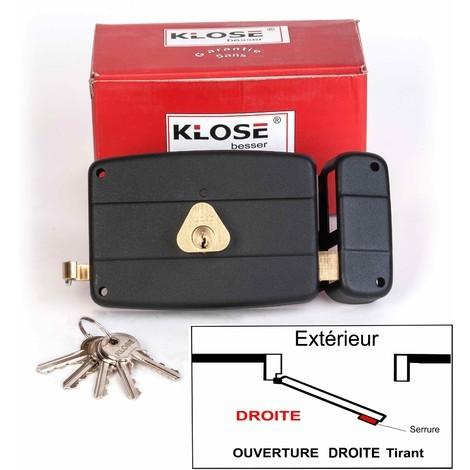 Serrure Monopoint KLOSE besser en Applique à Tirage Horizontale 140x92 mm - ( Similaire JPM CISA.... ) 3 clés | 45mm - Droite