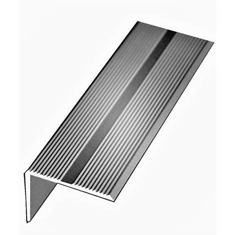 Nez de Marche KLOSE aluminium anodisé argent 42 mm x 22 mm | 1 Métre