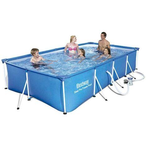 BLUNGI piscina steel pro + depuradora 400x211x81 cm 56424