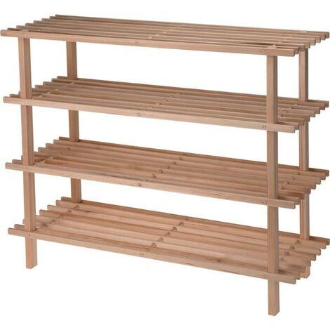 BLUNGI estanteria zapatero madera