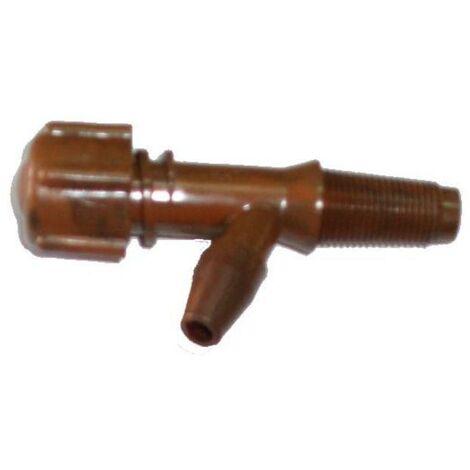 MIBRICOTIENDA grifos plastico recto nº 1 especial de 34 mm rosca 20 mm 400121