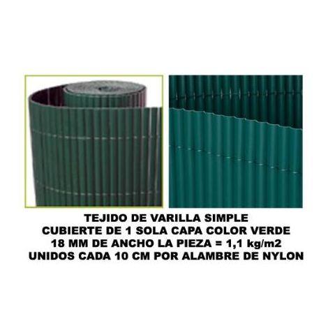 MIBRICOTIENDA bambu cañizo pvc 1 cara 18 mm color verde 100x500 cm mz8006