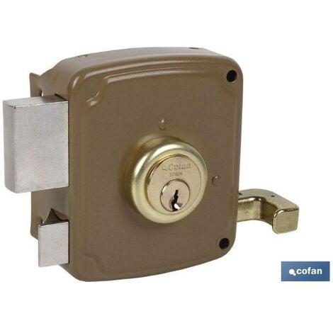 PLIMPO cerradura sobreponer c/cerradero 80mm izquerda