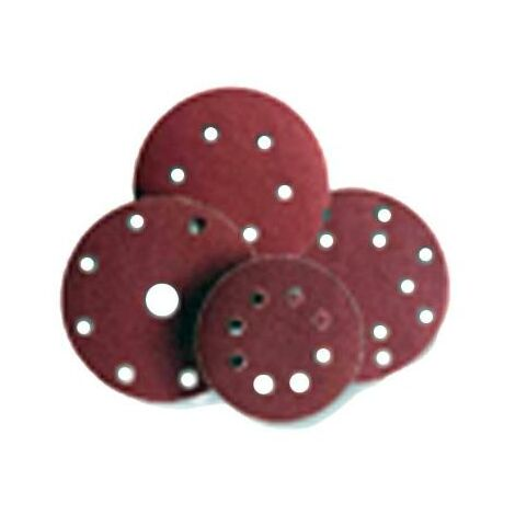 MIBRICOTIENDA sifer lija disco velcro 25 undx125 8 agujeros gr- 80