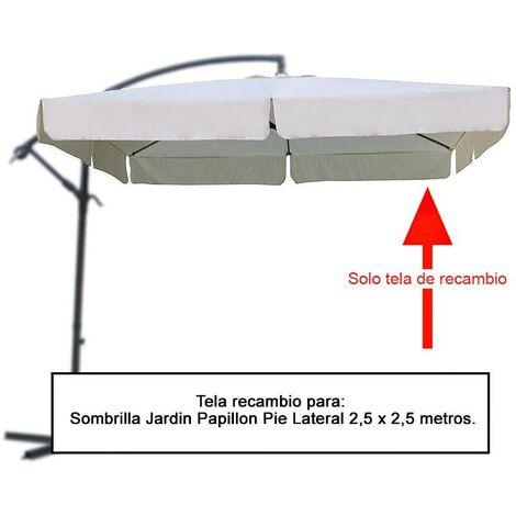 Tela recambio sombrilla pie lateral cuadradada 2. 5x2. 5 metros (08091058)