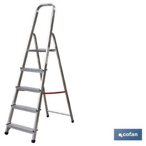 PLIMPO escalera aluminio 7 peldaños y 161 mts alt. util