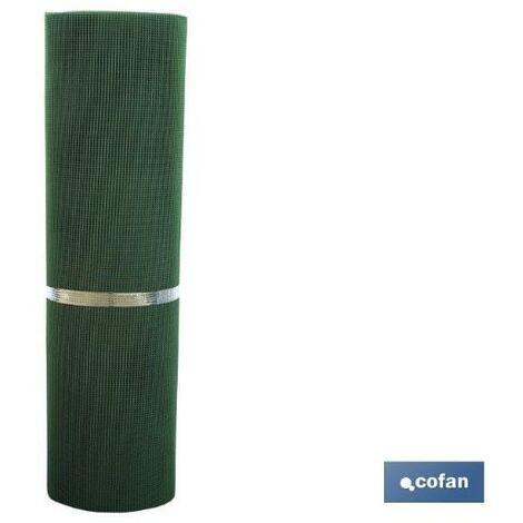 PLIMPO malla plast. cuadrada jardin 5mm verde 1x25m