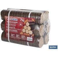 PLIMPO briquetas de madera p/chimeneas y estufas 7 kgs