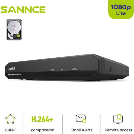 SANNCE Sistema de cámaras de seguridad SANNCE 4/8 / 16CH 720P con DVR 5 en 1 – 1TB