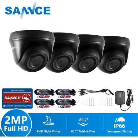 SANNCE Cámara de seguridad Sistema FHD Cámara 720P TVI - 4 cámaras