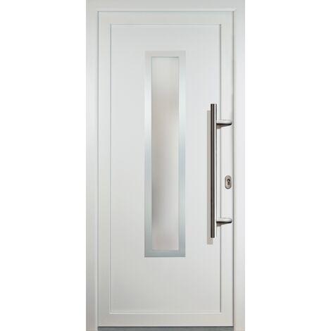 Portes d'entrée classique modèle C1, intérieur: blanc, extérieur: blanc largeur:88cm, hauteur:208cm, sens d'ouverture: DIN droite