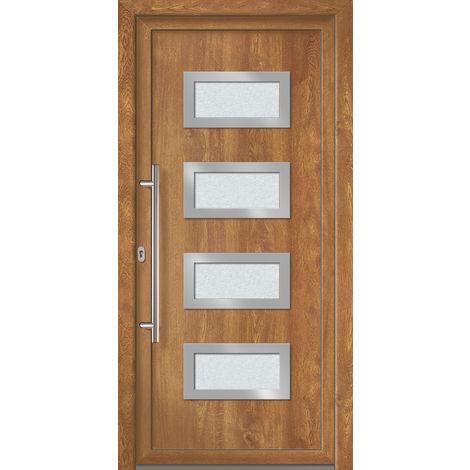 Portes d'entrée Exklusiv modèle 892, intérieur: blanc, extérieur: golden oak largeur:108cm, hauteur:200cm, sens d'ouverture: DIN droite
