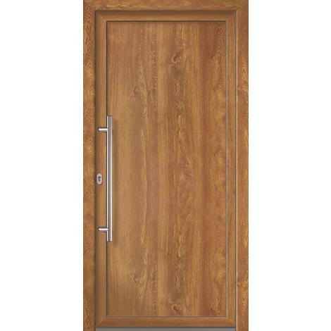 Puertas de casa exclusivo modelo 801 dentro: blanco, fuera: golden oak ancho: 108cm, altura: 208cm DIN derecha