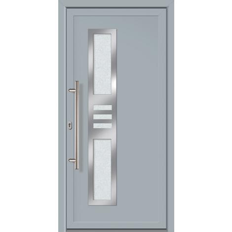 Puertas de casa exclusivo modelo 853 dentro: gris, fuera: gris ancho: 88cm, altura: 200cm DIN izquierda