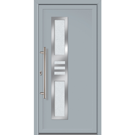 Puertas de casa exclusivo modelo 853 dentro: gris, fuera: gris ancho: 108cm, altura: 208cm DIN derecha