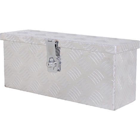 Boite de rangement - boîte à outils en aluminium - caisse à outil alu. verrouillage clé dim. 50L x 15,5l x 20,5H cm