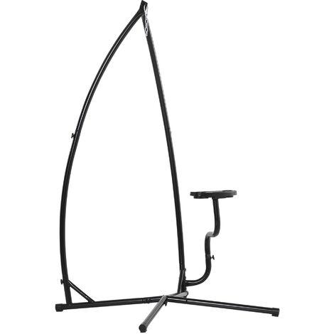 Support pour fauteuil suspendu - pied fauteuil suspendu - tablette réglable incluse - charge max. recommandée 120 Kg