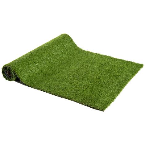 Gazon synthétique artificiel moquette extérieure intérieure 3L x 1l m herbes hautes denses 2,5 cm vert