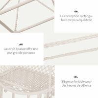 Chaise suspendue hamac de voyage respirant portable dim. 80L x 50l x 150H m coton polyester beige