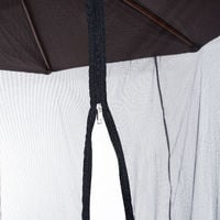 Moustiquaire cylindrique pour parasol 3 m diamètre avec fermeture éclair et lestage noir