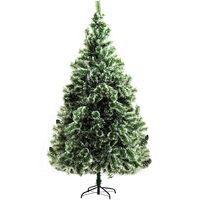 Sapin de Noël artificiel aspect enneigé Ø 100 x 210H cm 968 branches épines imitation Nordmann grand réalisme