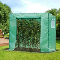 Serre de jardin anti-UV 2 fenêtres moustiquaires + 2 barres renforcement 198L x 77l x 168H cm acier PE vert