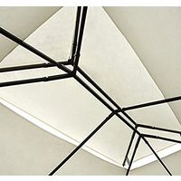 Toile de toit de rechange pour pavillon tonnelle tente 3x3m crème