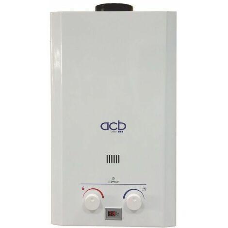 Calentador de agua a gas 10 litros ACB BUTANO/PROPANO (GLP)