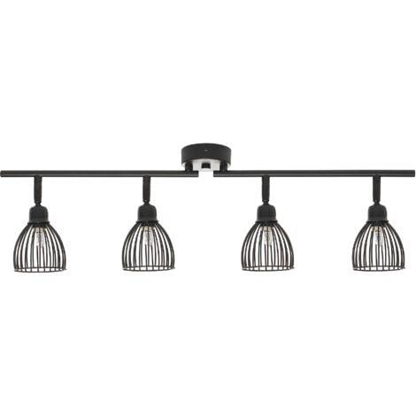 Modern Industrial Adjustable Ceiling Track Lighting Lamp Metal Black Golok