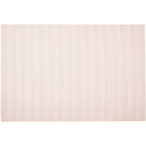 Modern Reversible Outdoor Area Rug Pink PVC Polyester 140 x 200 cm Akyar