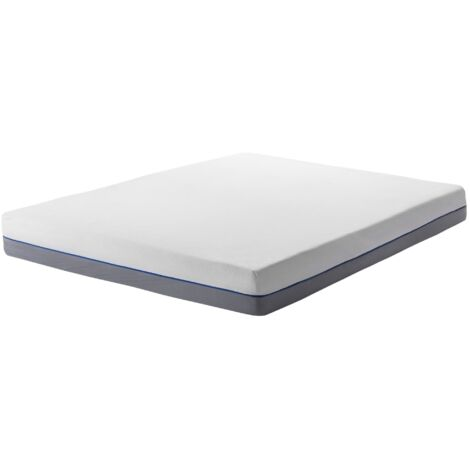 EU Super King Size Firm Mattress 6ft White Grey Foam Filling Polyester Cover Glee