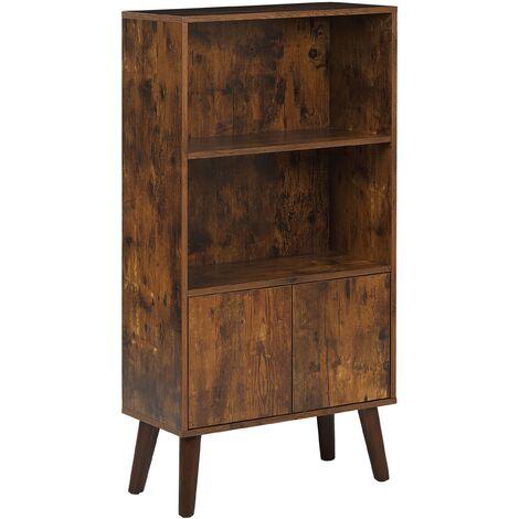 Bookcase Dark Wood VICOSA