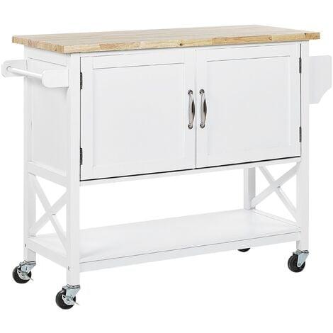 Kitchen Trolley White MELE