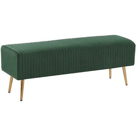 Velvet Bedroom Bench Green PATERSON