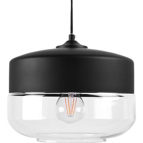 Glass Pendant Lamp Black MURRAY