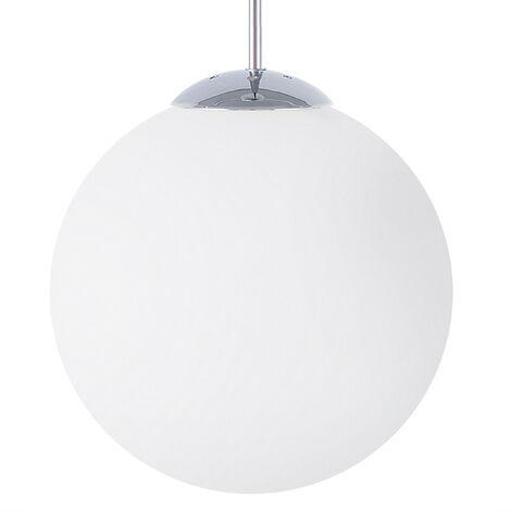 Glass Pendant Lamp White BARROW Small