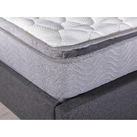 EU Super King Pocket Sprung Mattress 6ft Top Pillow Medium Soft H2 Quilted Splendour
