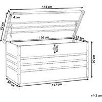 Garden Storage Box Dark Grey Steel Lockable Lid 400L Cebrosa