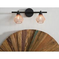 Modern Wall Light Adjustable Metal Copper Geometric Shades Pendant Volga S
