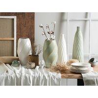 Modern Ceramic Vase Decorative Living Room Light Green with Gold Lentia