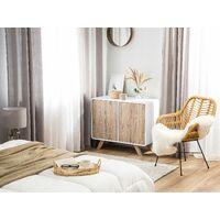 Minimalist Sideboard Light Wood White Storage Shelf TV Stand Milo