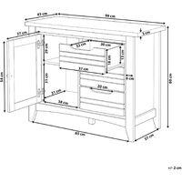 Minimalist Sideboard Retro Light Wood Storage Cabinet with 3 Drawers Agora